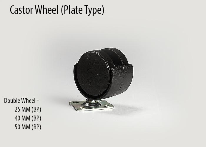 Castor plate type